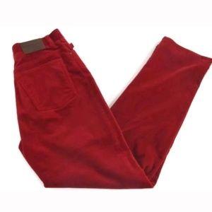 Lauren Ralph Lauren Sz 8 Red Velvet Jeans